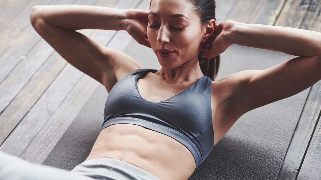 get abs at home